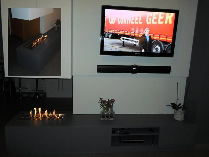 "Bio-Blaze 12"" Bloc Adjustable Drop-in Ethanol Fireplace Burner with Insert Box (BB-B31L)"