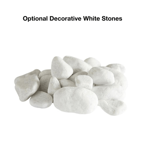 Optional Decorative White Stones