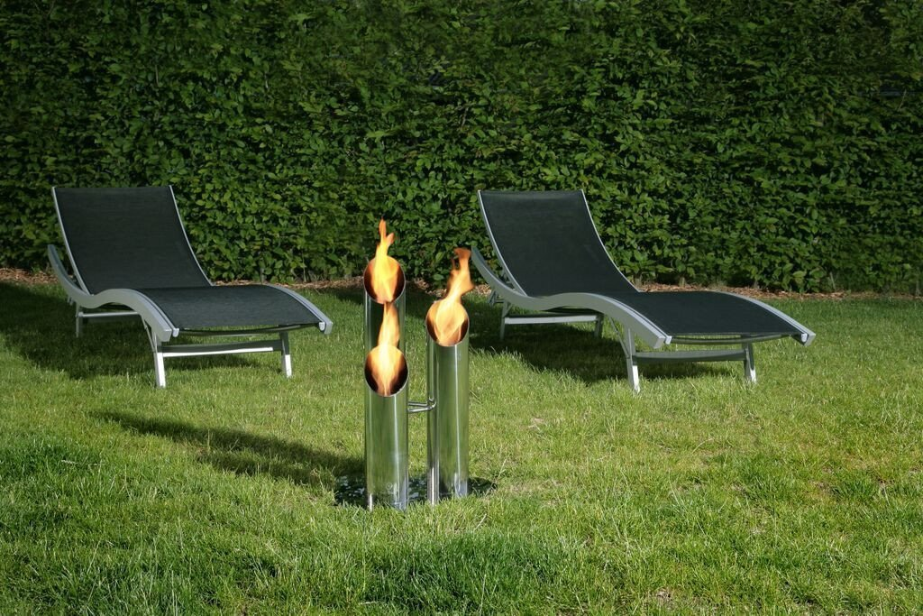 Ethanol Fireplace - Bio-Blaze Pipes - Unique Outdoor Ventless Ethanol Fireplace (BB-PS, B-PL)