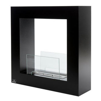 Ethanol Fireplace - Bio-Blaze Qube Small - Free Standing Indoor/Outdoor Ethanol Fireplace (BB-QS)