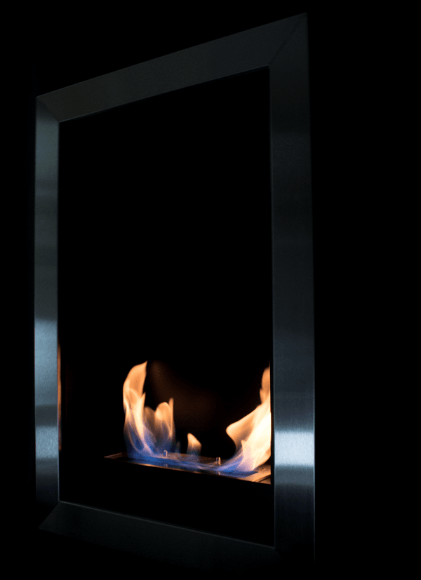 "Bio-Blaze Square Vertical - 21"" Wall Mounted/Built-in Ethanol Fireplace (BB-SQV)"