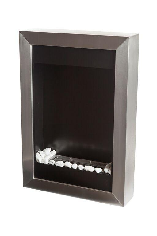 Ethanol Fireplace - Bio-Blaze Square Vertical - Wall Mounted/Built-in Ethanol Fireplace (BB-SQV)