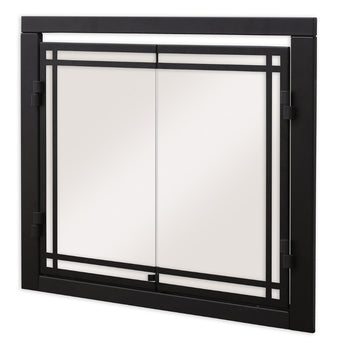 Dimplex Door Kit for Revillusion RBF36P Electric Firebox - Angled View