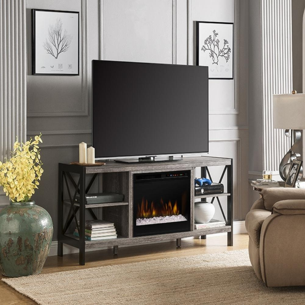 Dimplex Ramona Media Console with Electric Fireplace in Living Room
