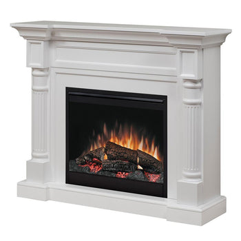 "Dimplex Winston 52"" Electric Fireplace and Mantel Package, UL Listed (DFP26-1109W)"