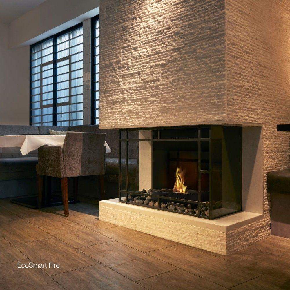 EcoSmart Fire Grate 18 in a Fireplace