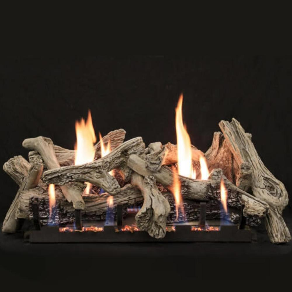 Empire Driftwood Burncrete® Slope Glaze Vent-Free Gas Log Set