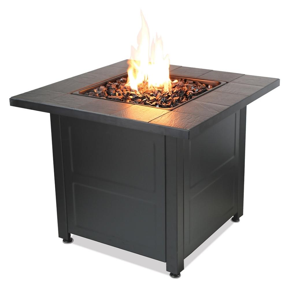 "Endless Summer 30"" Square Outdoor LP Fire Pit with Tile Mantel (GAD1499M)"