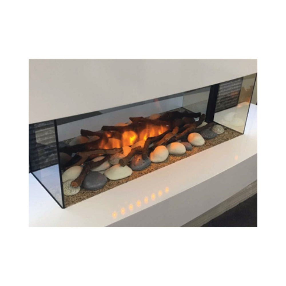 Evolution Fires Beach Pebble Set for Electric Fireplaces