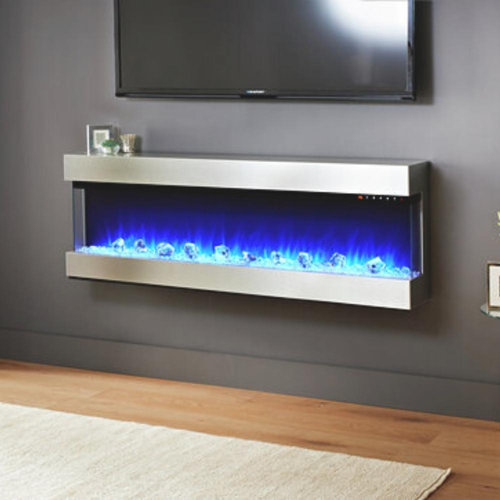 "Evolution Fires Empire 72"" Wall Mounted 3-Sided Electric Fireplace"