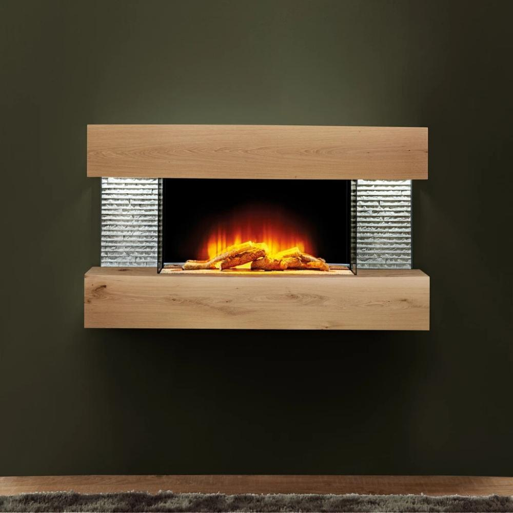 "Evolution Fires Vegas Petite 48"" Wall Mounted 3-Sided Electric Fireplace"