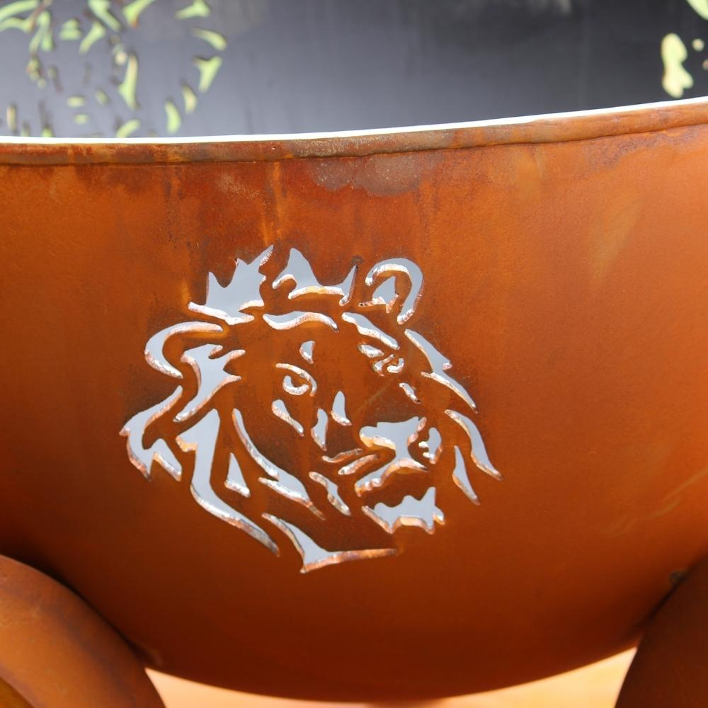 Lion Design of Fire Pit Art Africa's Big Five