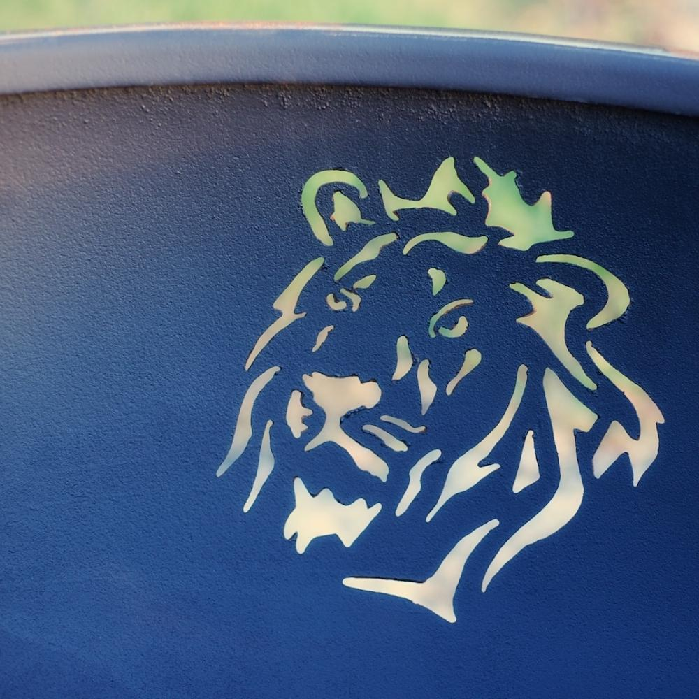 Lion Design On The Inside Of Fire Pit Art Africa's Big Five