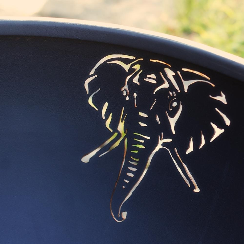 Elephant Design On The Inside Of Fire Pit Art Africa's Big Five