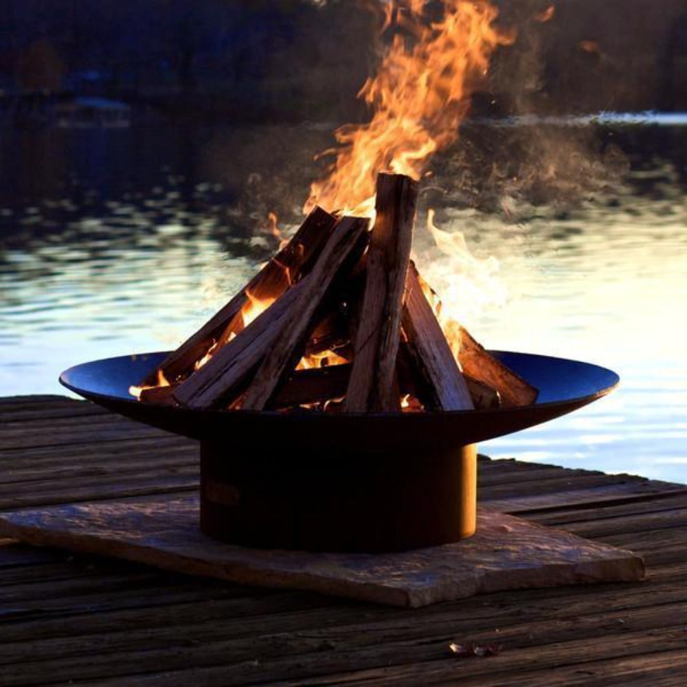 "Wood Burning Fire Pit - Fire Pit Art Asia - 36"" Steel Fire Pit (AS36)"