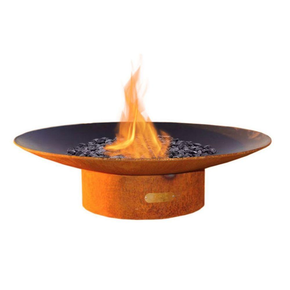 "Fire Pit Art Asia - 48"" Handcrafted Carbon Steel Gas Fire Pit"
