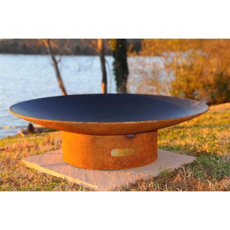 "Wood Burning Fire Pit - Fire Pit Art Asia - 72"" Steel Fire Pit (AS72)"