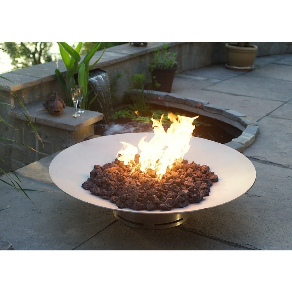 "Fire Pit Art Bella Vita - 46"" Handcrafted Carbon Steel Gas Fire Pit"