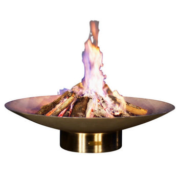 "Fire Pit Art Bella Vita - 46"" Handcrafted Stainless Steel Fire Pit (BV46)"