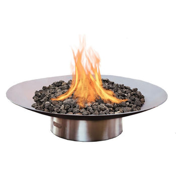 "Fire Pit Art Bella Vita - 70"" Handcrafted Carbon Steel Gas Fire Pit"