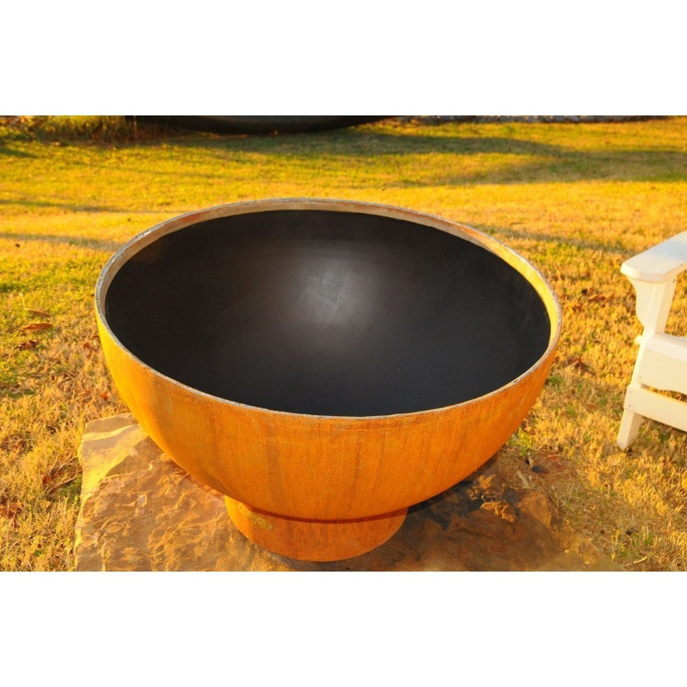 "Fire Pit Art Crater - 36"" Handcrafted Carbon Steel Gas Fire Pit"