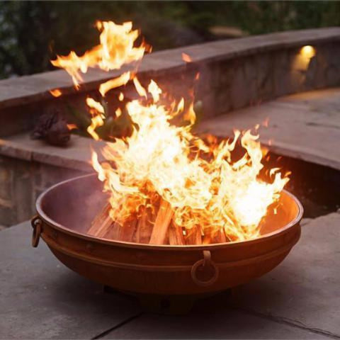 "Wood Burning Fire Pit - Fire Pit Art Emperor - 39.5"" Carbon Steel Fire Pit (EMP)"