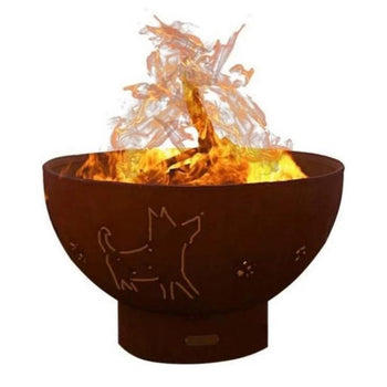 "Wood Burning Fire Pit - Fire Pit Funky Dog - 36"" Steel Fire Pit (FDOG)"