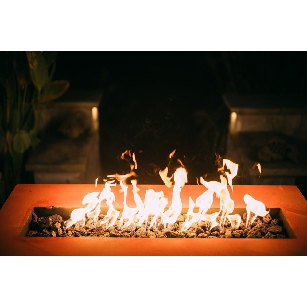 "Fire Pit Art Linear - 60"" Handcrafted Carbon Steel Gas Fire Pit"
