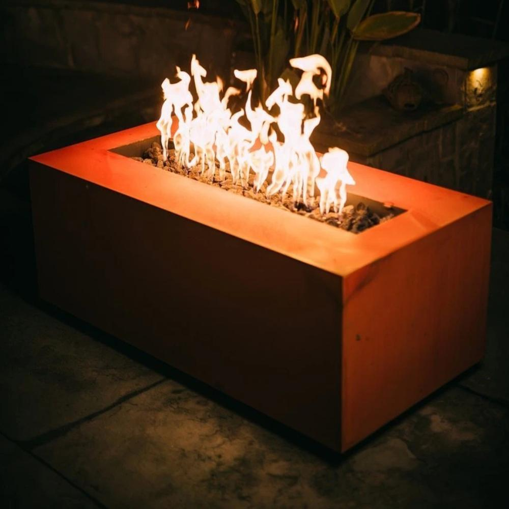 "Fire Pit Art Linear - 72"" Handcrafted Carbon Steel Gas Fire Pit"