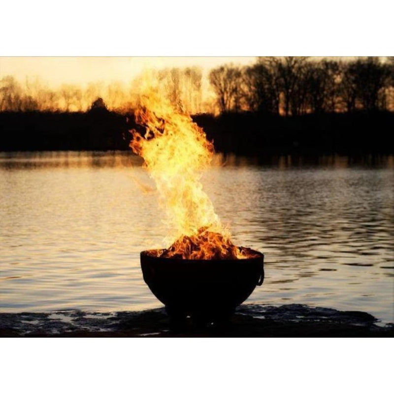 "Wood Burning Fire Pit - Fire Pit Art Nepal - 41"" Steel Fire Pit (NP)"