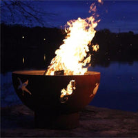 "Wood Burning Fire Pit - Fire Pit Art Sea Creatures - 36"" Steel Fire Pit (SEA)"