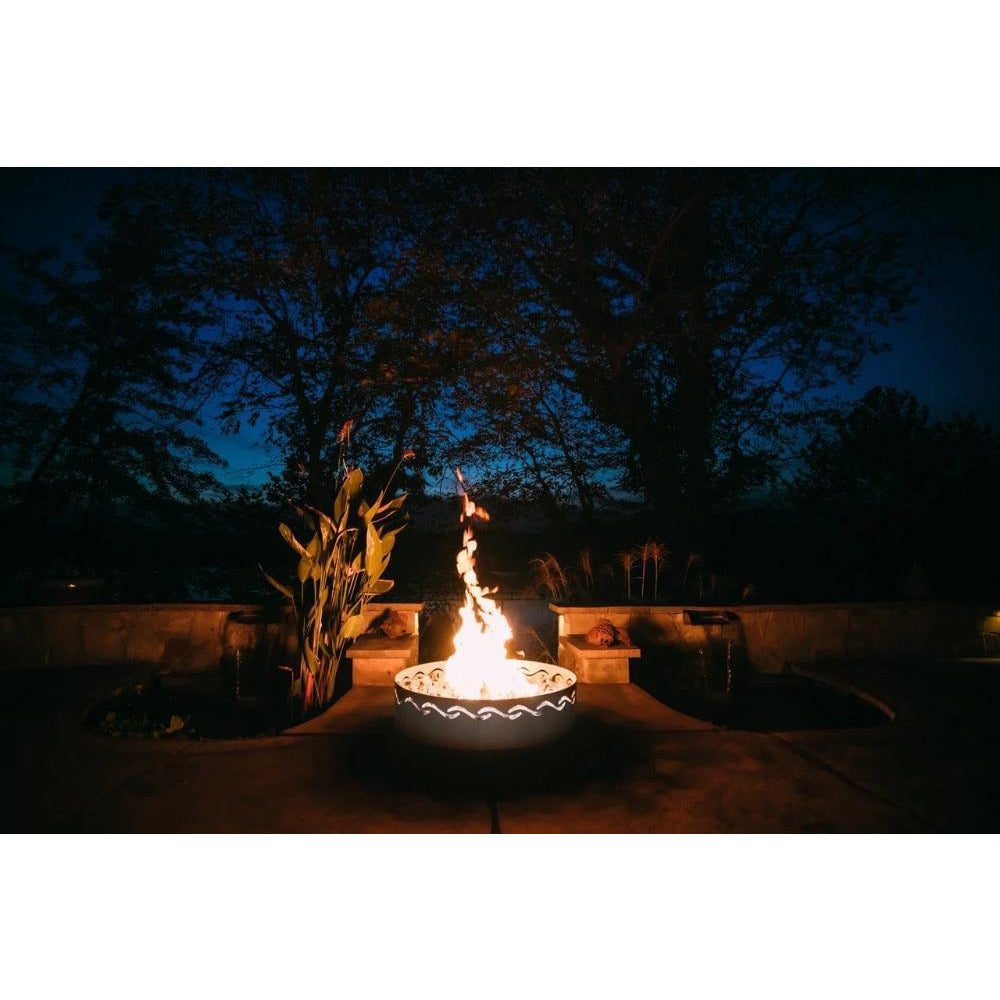 "Fire Surfer by Fire Pit Art - 30"" Handcrafted Stainless Steel Fire Pit"