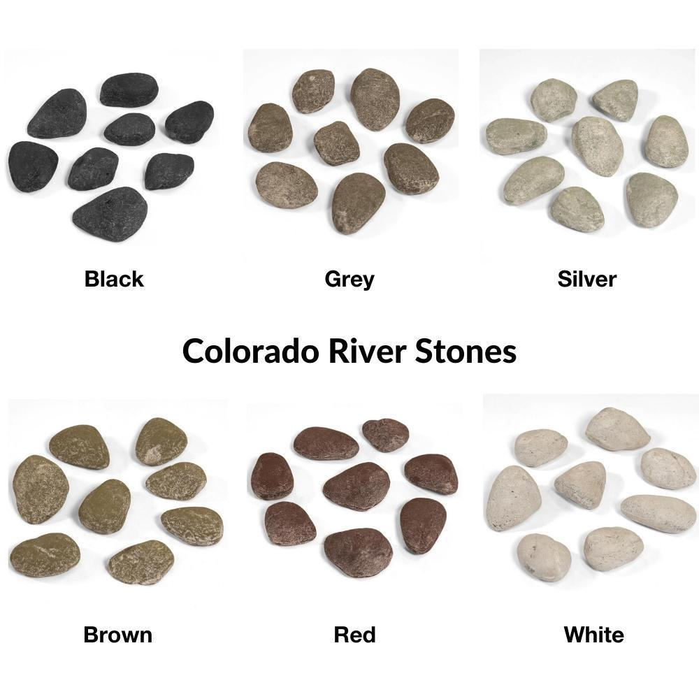 Grand Canyon Colorado River Stone Set for Gas Fireplaces and Fire Pits
