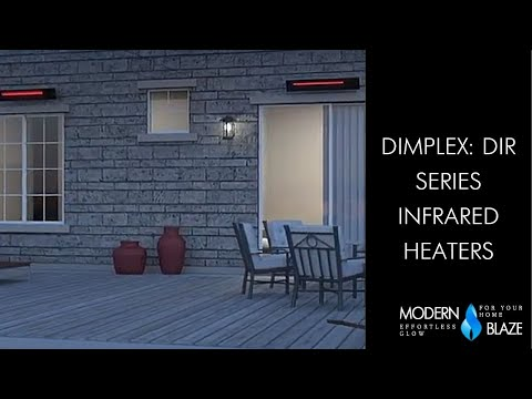 "Dimplex DIR Series 36"" 1500W 120V Infrared Electric Heater (DIR15A10GR)"