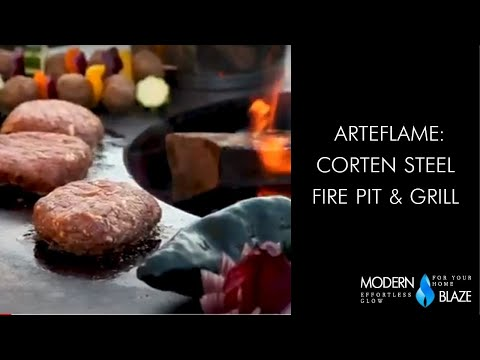 Arteflame: Corten Steel Fire Pit & Grill
