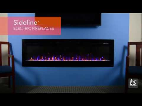 "Touchstone Sideline Electric Fireplaces: 50"" 60"" and 72"" Long"