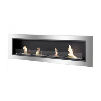 "Ignis Accalia - 67"" Built-in/Wall Mounted Ethanol Fireplace (WMF-022G-3)"