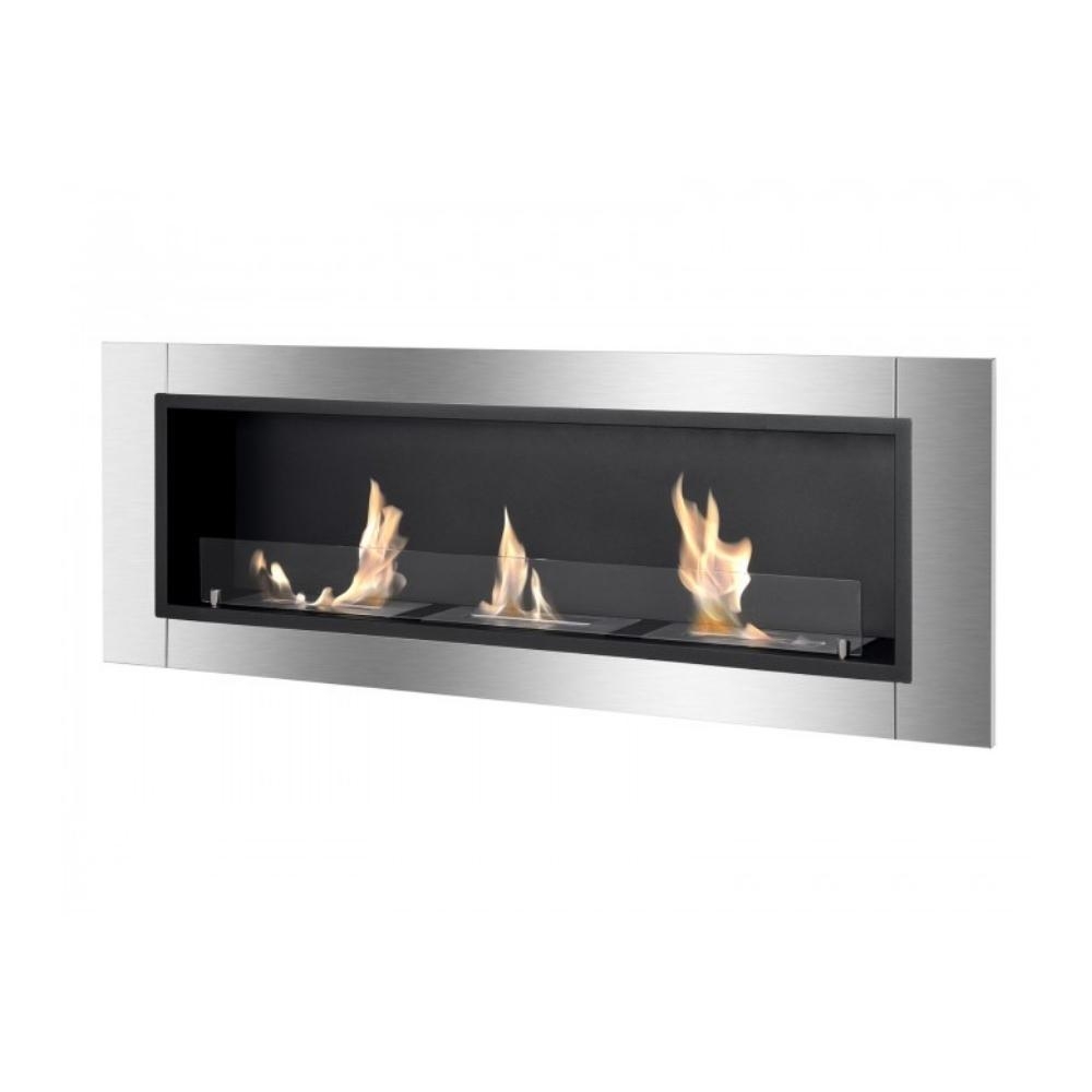 "Ignis Ardella - 55"" Built-in/Wall Mounted Ethanol Fireplace (WMF-022G-2)"