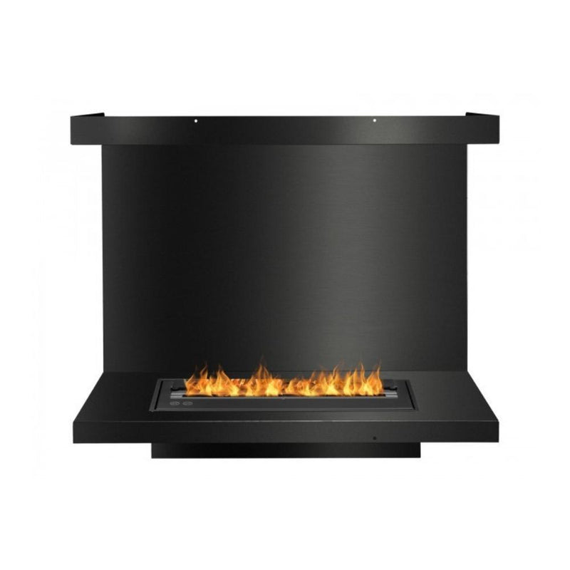 Ignis C-Shaped Ethanol Firebox - Built-in 3-Sided BlackFireplace Insert