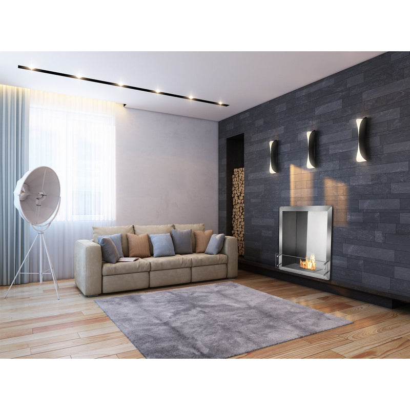 "Ethanol Firebox - Ignis Ethanol Firebox - 28"" Built-in Single Sided Ventless Fireplace (FB1212-S)"