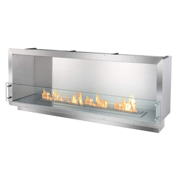 "Ethanol Firebox - Ignis Ethanol Firebox - 64"" Built-in Single Sided Ventless Fireplace (FB4800-S)"