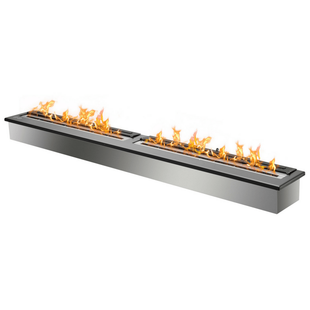 "Ignis Fireplace Insert - 62"" Black Ethanol Burner (EB6200 Black)"