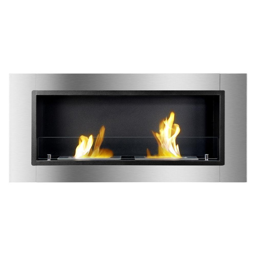 "Ignis Lata - 43"" Built-in / Wall Mounted Ethanol Fireplace (WMF-022G)"