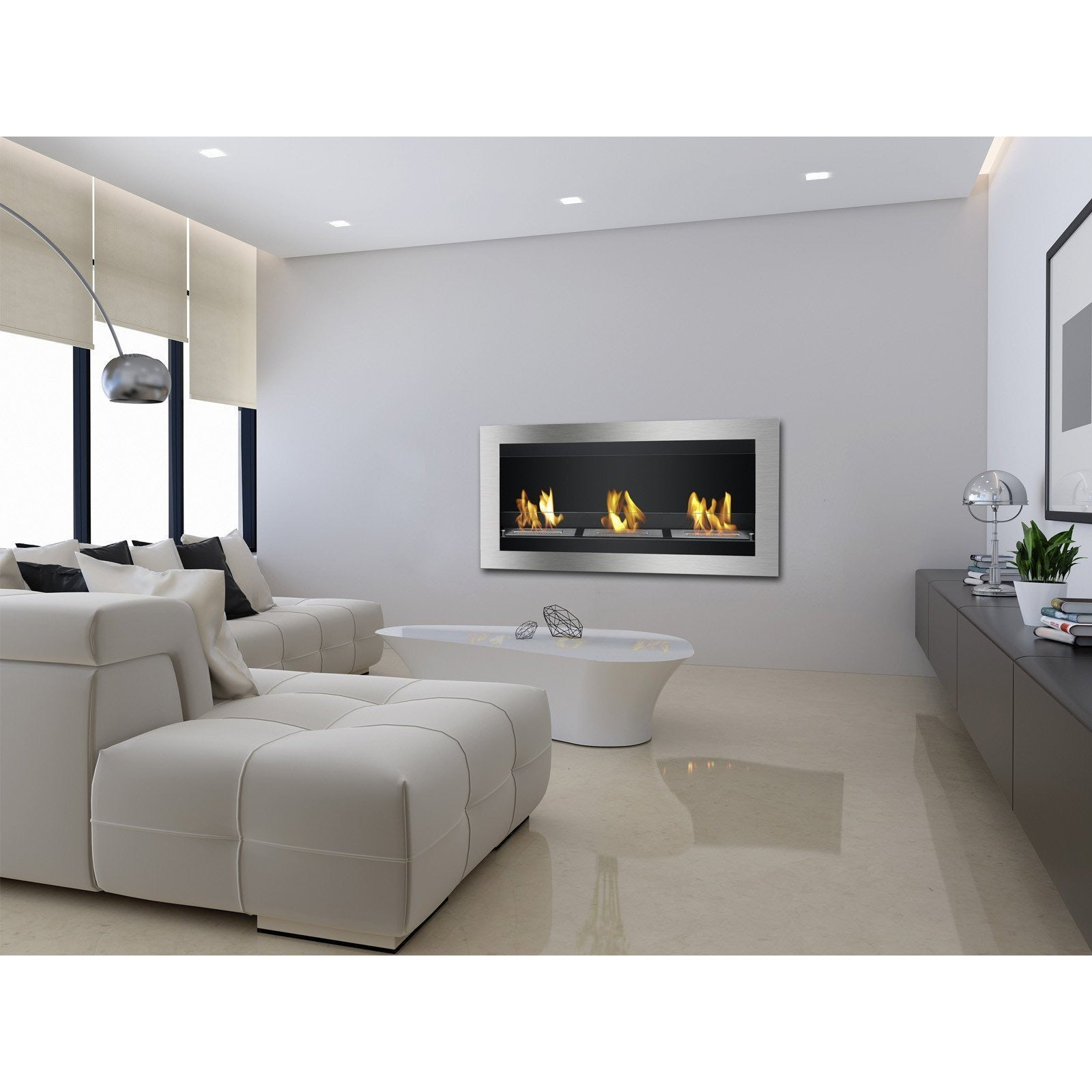 "Ethanol Fireplace - Ignis Magnum - 44"" Wall Mounted Ethanol Fireplace (WMF-010)"