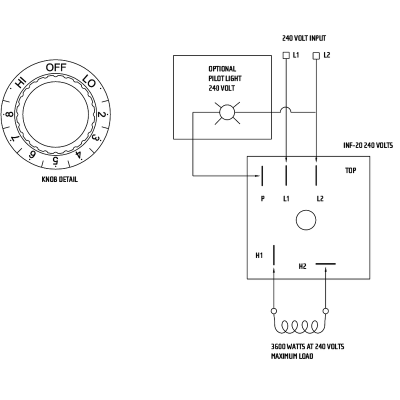 Infratech Inf Input Dual In Wall Regulator For 2 Single