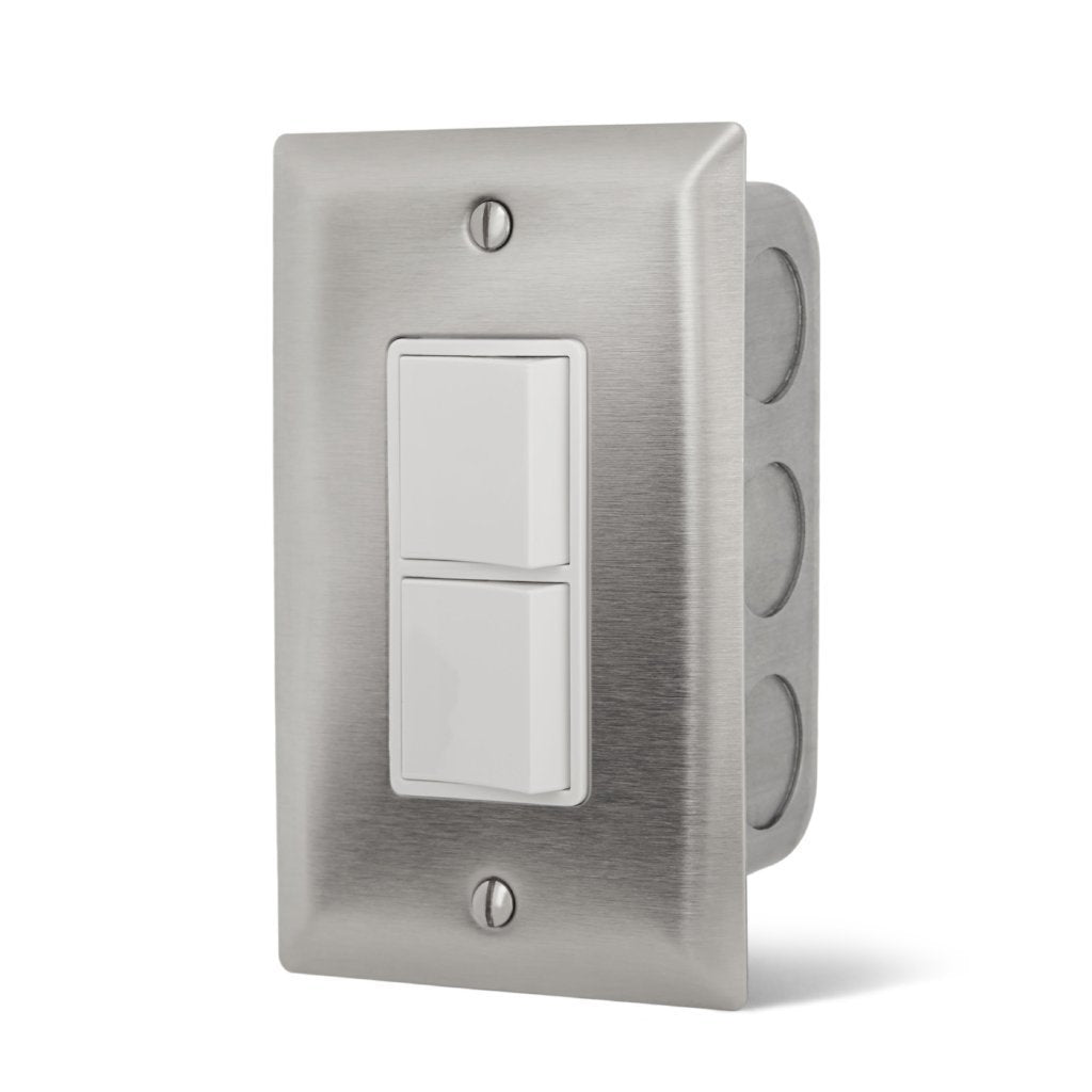 Infratech Single Duplex ON/OFF In Wall Switch for Dual Element Electric Heaters (14-4300)
