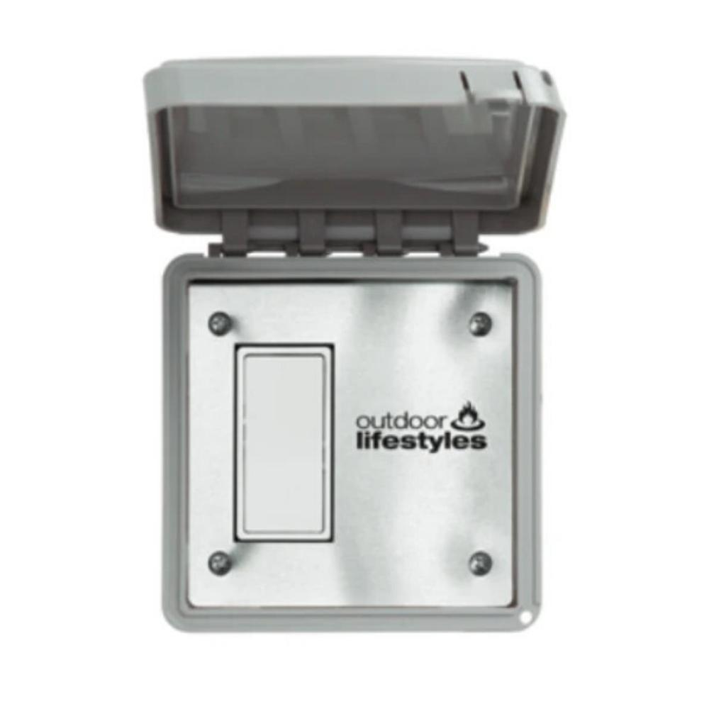 Majestic Wired Wall Timer for Courtyard Fireplace