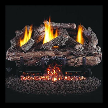 Real Fyre Charred Aged Split Oak Vent-Free Gas Log Set