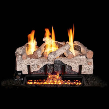 Real Fyre Charred Alpine Birch Vent-Free Gas Log Set