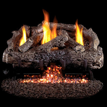 Real Fyre Charred Frontier Oak Vent-Free Gas Log Set